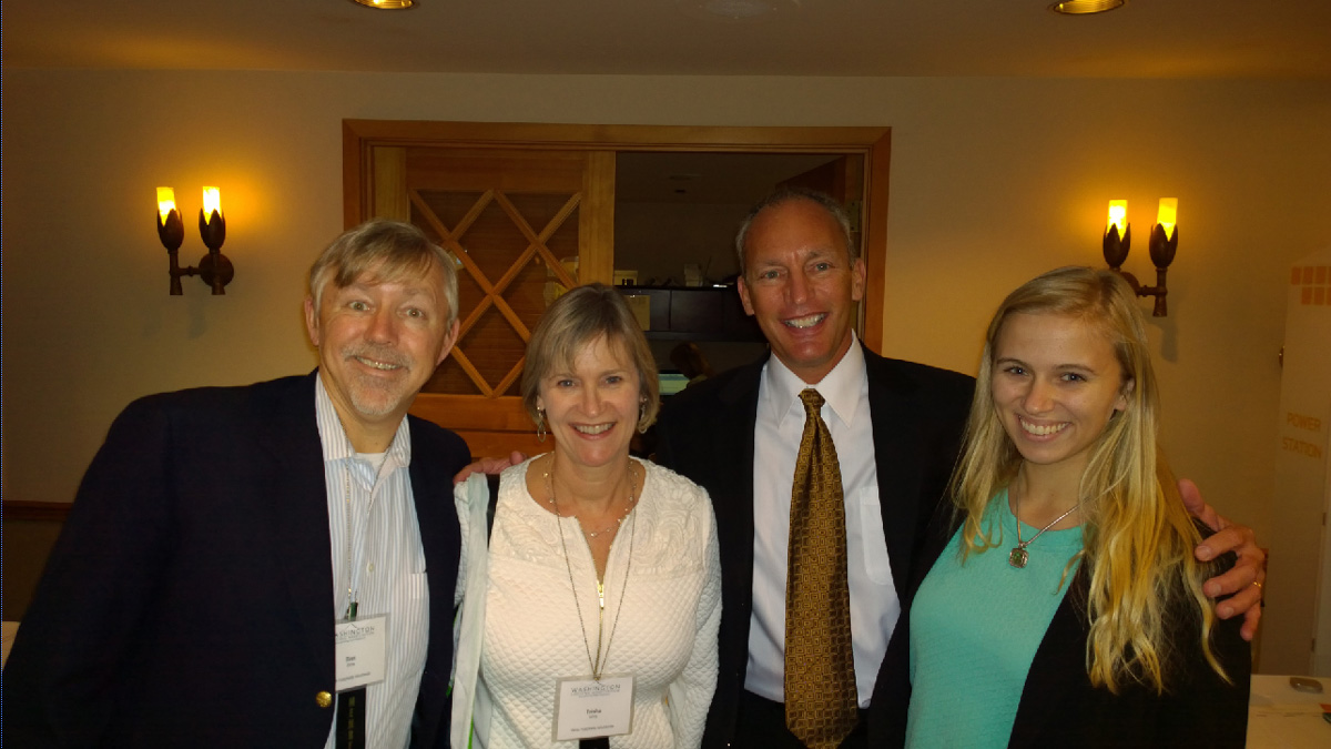L to R - Bret Wirta, Trisha Wirta, Steve Gutzler and Becca Wirta at WLA
