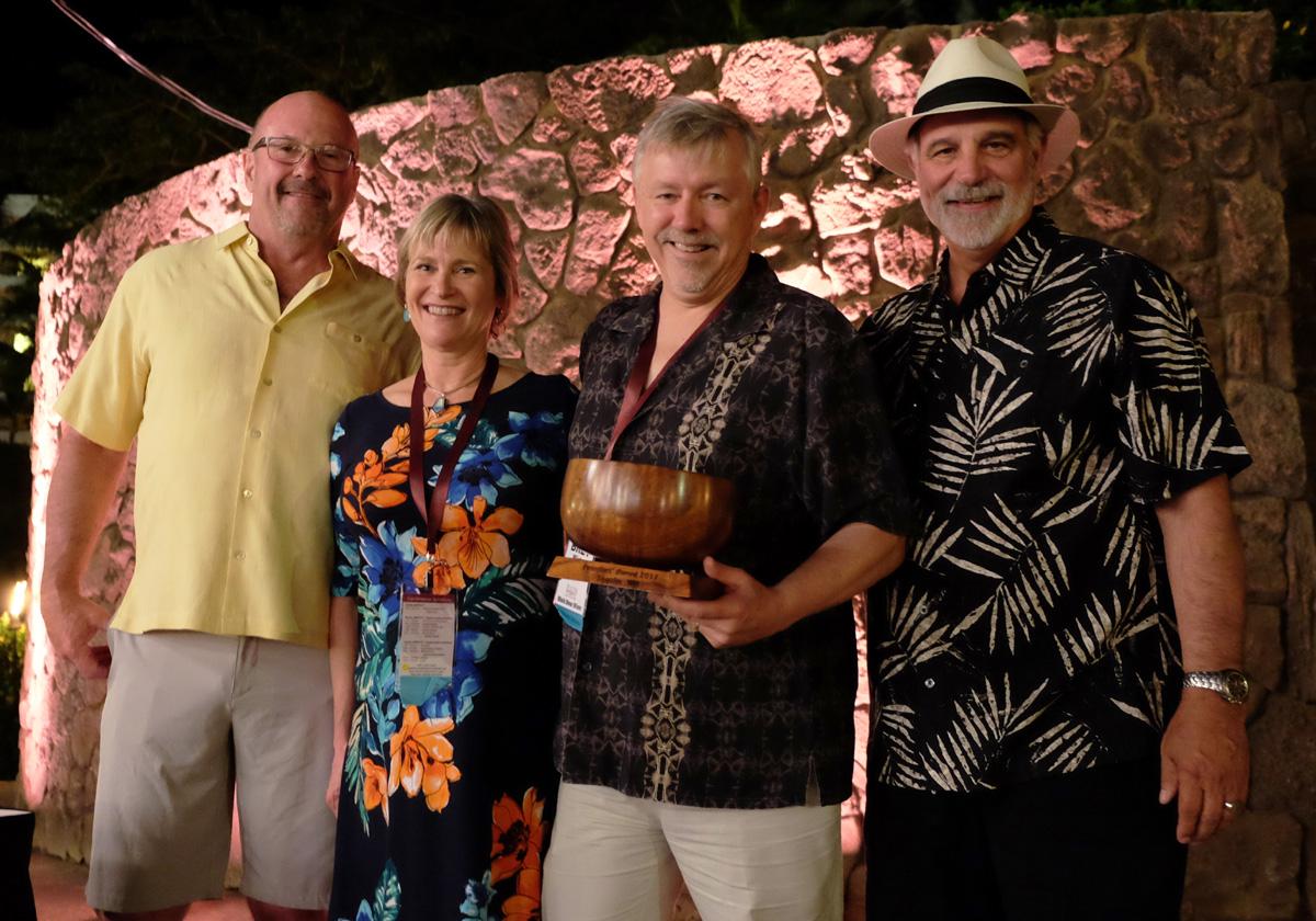 LtR Bruce Dean, Trisha Wirta, Bret Wirta, Bob Manley -Founders Award 2017