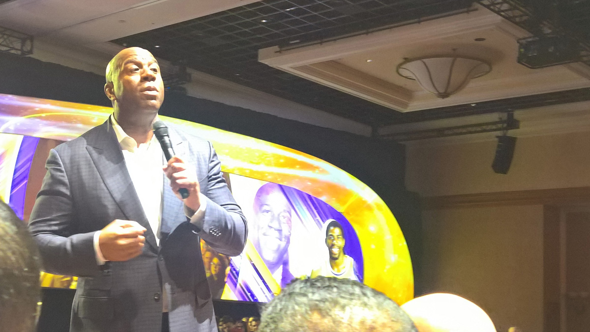 Magic Johnson at Choice Hotels Annual Conference